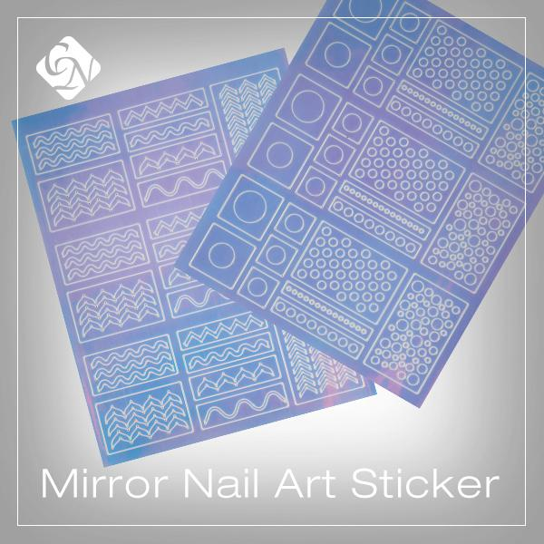Mirror Sticker Nail Art matrica